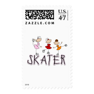 Stick Figure Skater Tshirts and Gifts Postage Stamp