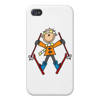 Stick Figure Skier and Gifts iPhone 4 Covers
