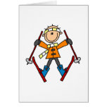 Stick Figure Skier T-shirts and Gifts Card