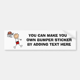 Stick Figure Slam Dunk T-shirts and Gifts Bumper Sticker