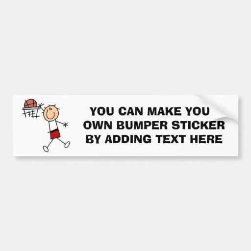 Stick Figure Slam Dunk T-shirts and Gifts Bumper Sticker
