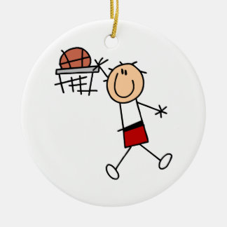 Stick Figure Slam Dunk T-shirts and Gifts Ceramic Ornament
