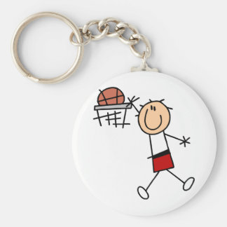Stick Figure Slam Dunk T-shirts and Gifts Key Chain