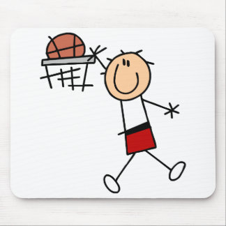 Stick Figure Slam Dunk T-shirts and Gifts Mouse Pad