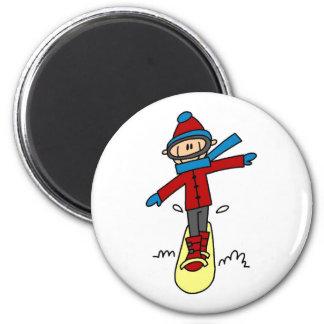 Stick Figure Snowboarding Magnet
