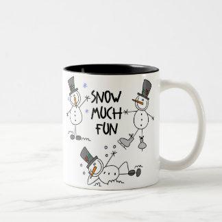 Stick Figure Snowmen Mug