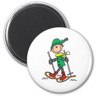 Stick Figure Snowshoeing Magnet