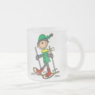 Stick Figure Snowshoeing Coffee Mugs