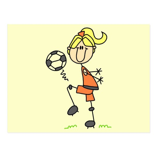 Stick Figure Soccer Tshirts and Gifts Postcard