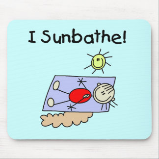 Stick Figure Sunbather Tshirts and Gifts Mouse Pad