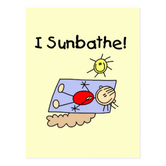 Stick Figure Sunbather Tshirts and Gifts Postcard