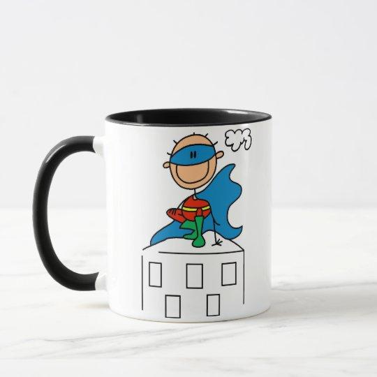 Stick Figure Super Hero Mug