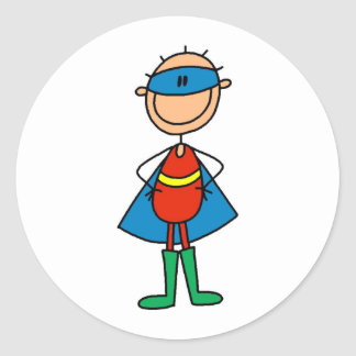 Stick Figure Super Hero Stickers