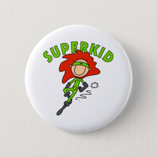 Stick Figure SuperKid Button