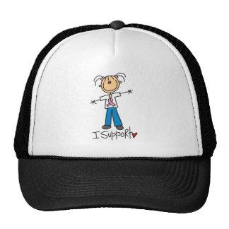 Stick Figure Support Baseball Cap Trucker Hat
