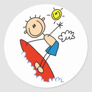 Stick Figure Surfer Boy Tshirts and Gifts Stickers