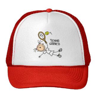 Stick Figure Tennis Goddess Baseball Cap Trucker Hat