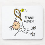 Stick Figure Tennis Goddess Mousepad