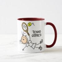 Stick Figure Tennis Goddess Mug