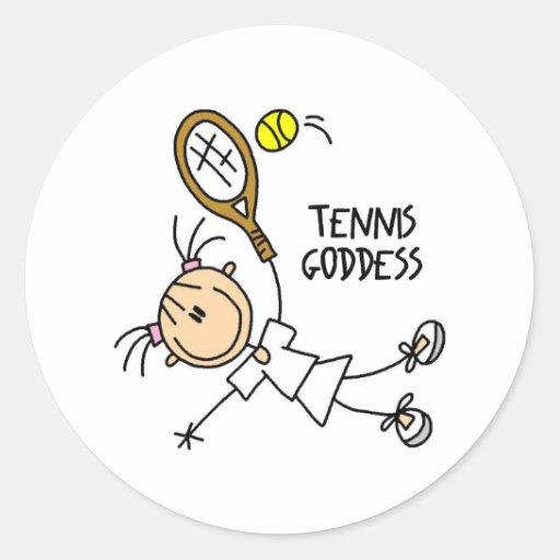 Stick Figure Tennis Goddess Stickers