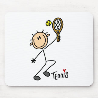 Stick Figure Tennis Mousepad