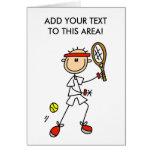 Stick Figure Tennis Player Card