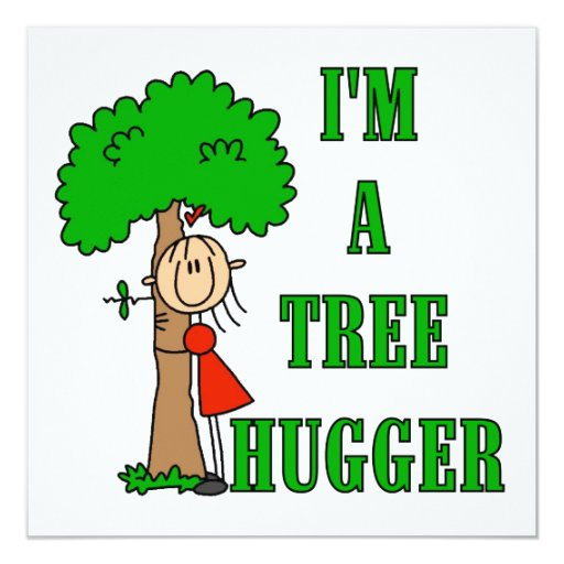 Stick Figure Tree Hugger T-shirts and Gifts Card
