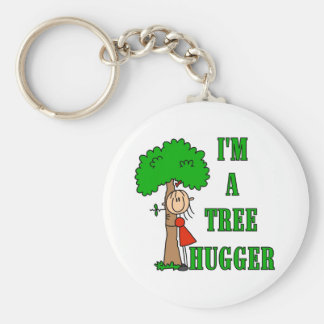 Stick Figure Tree Hugger T-shirts and Gifts Keychain