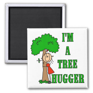 Stick Figure Tree Hugger T-shirts and Gifts Magnet