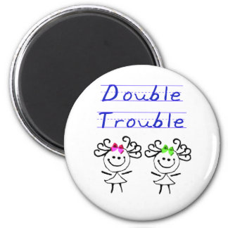 Stick Figure Twin girls Magnet