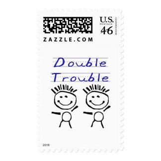 Stick Figure Twins Stamps