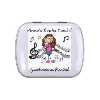 Stick Figure Violin Player Candy Tin