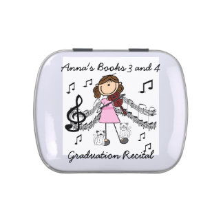 Stick Figure Violin Player Candy Tin