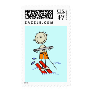 Stick Figure Water Skiing Tshirts and gifts Postage