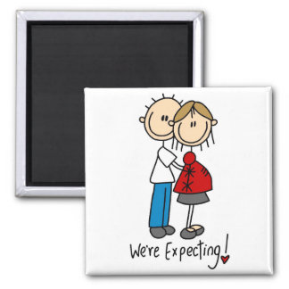 Stick Figure We re Expecting Refrigerator Magnet