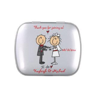 Stick Figure Wedding Candy Tin