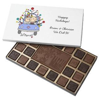 Stick Figure Wedding Couple Holiday Chocolates 45 Piece Box Of Chocolates