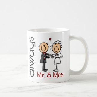 Stick Figure Wedding Couple Mr. & Mrs. Always Classic White Coffee Mug