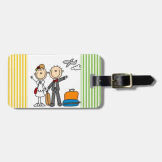 Stick Figure Wedding Honeymoon T-shirts and Gifts Bag Tag