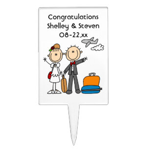 Stevens cake toppers zazzle stick figure wedding honeymoon t shirts and gifts cake topper junglespirit Choice Image