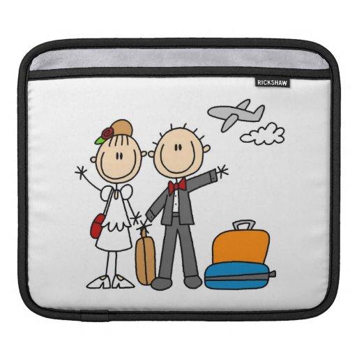 Stick Figure Wedding Honeymoon T-shirts and Gifts iPad Sleeve