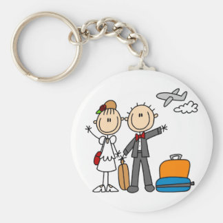 Stick Figure Wedding Honeymoon T-shirts and Gifts Keychain