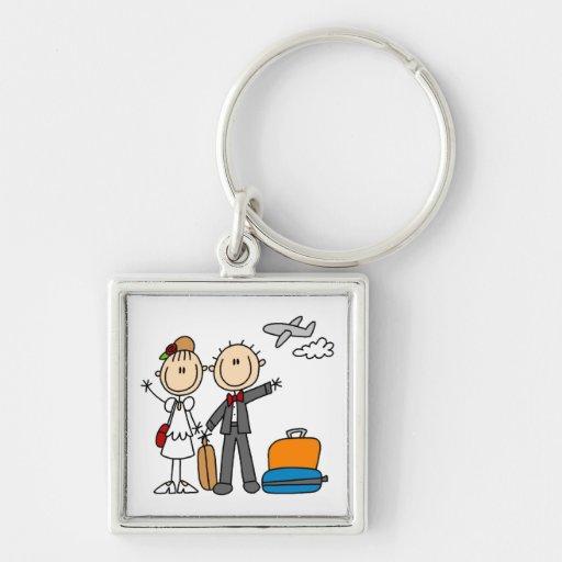 Stick Figure Wedding Honeymoon T-shirts and Gifts Keychains