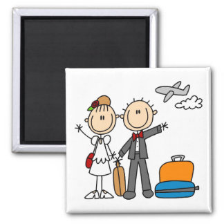Stick Figure Wedding Honeymoon T-shirts and Gifts Magnet