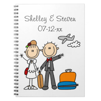 Stick Figure Wedding Honeymoon T-shirts and Gifts Notebook