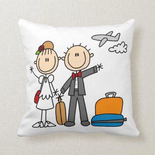 Stick Figure Wedding Honeymoon T-shirts and Gifts Pillows
