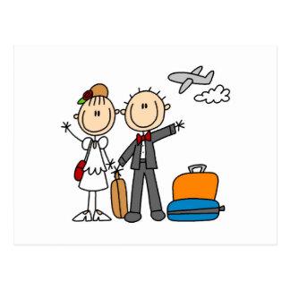 Stick Figure Wedding Honeymoon T-shirts and Gifts Postcard
