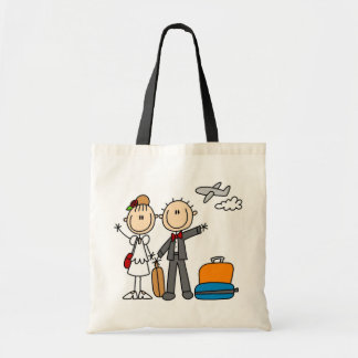 Stick Figure Wedding Honeymoon T-shirts and Gifts Tote Bag