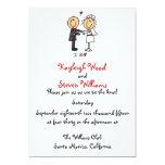 Stick Figure Wedding Invitation 13 Cm X 18 Cm Invitation Card