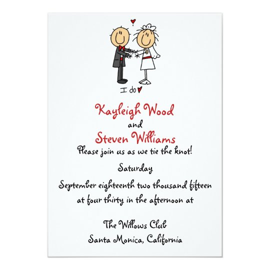 Stick Figure Wedding Invitation